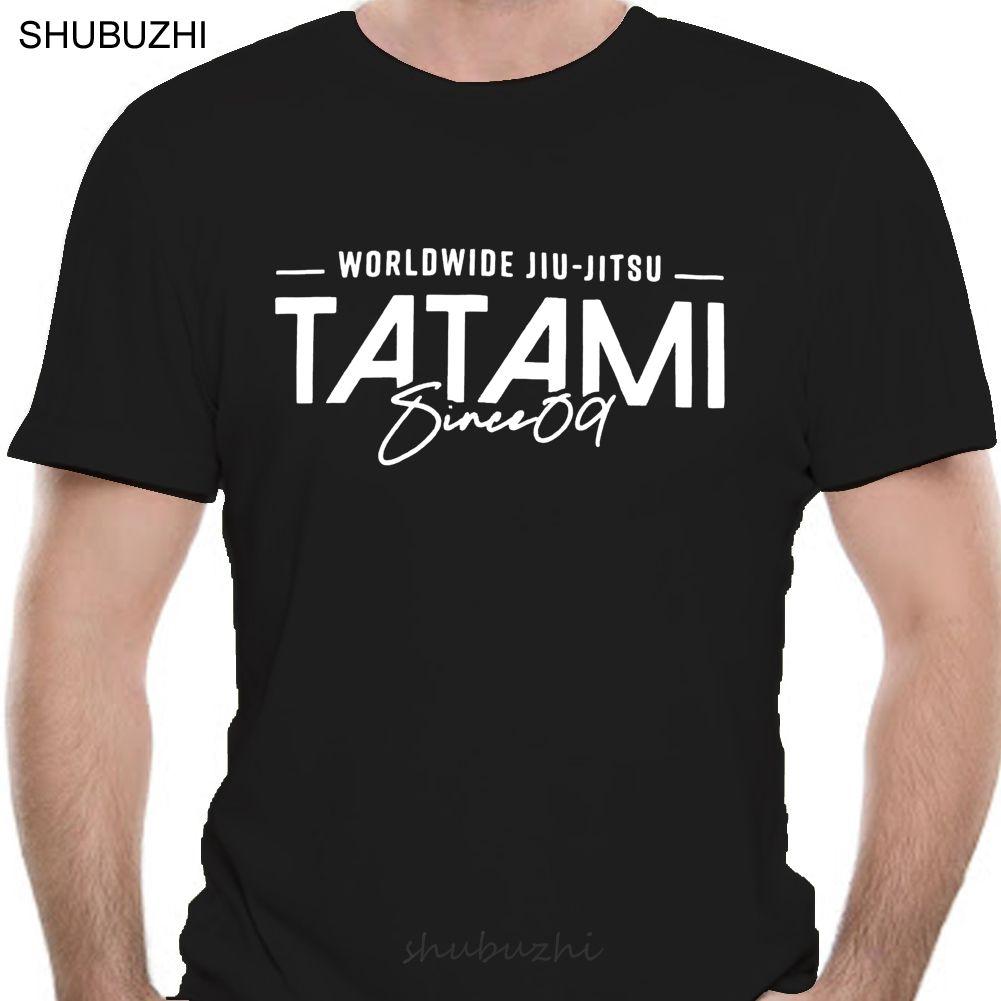 Seit Tatami 09 Blau BJJ T-Shirt der Männer Jiu Jitsu zufällige Spitze männliche Marke teeshirt Männer Sommer Baumwoll-T-Shirt