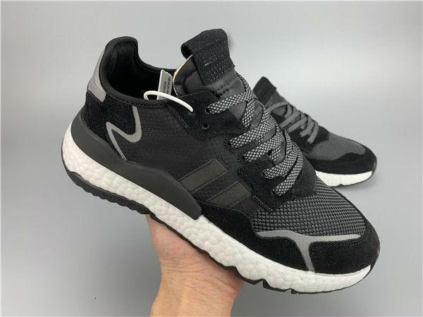 2020 Оптовых Mens Nite Jogger загрузки для мужских кроссовок Мужских Кроссовок женщин 3M Беговой обуви Женского Светоотражающие Sneaker Женщин Sneaker