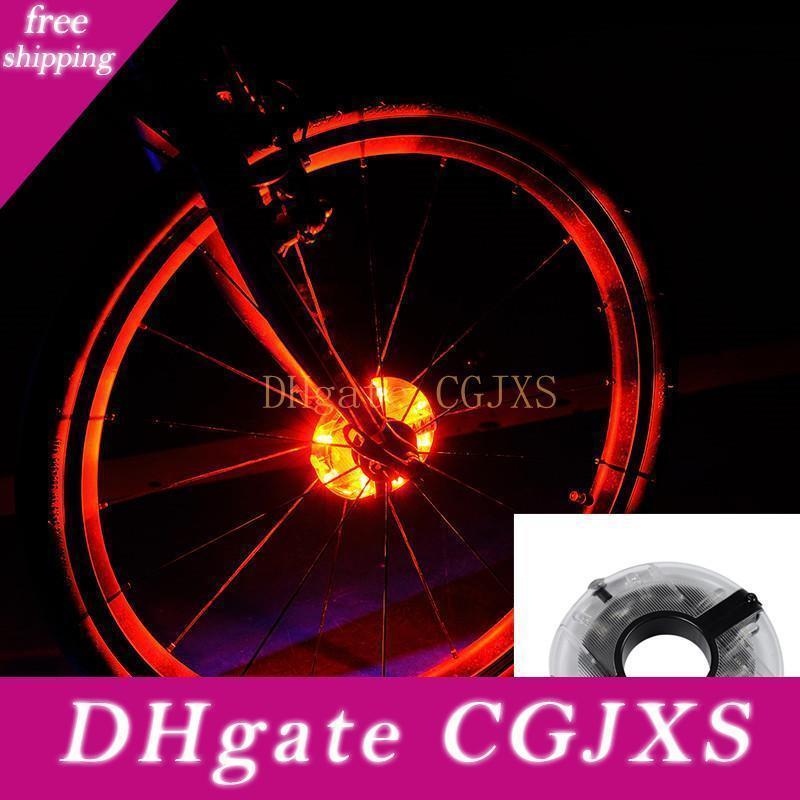 2018 Nuevo ciclo de la bicicleta concentradores de luz delantera de la bici / Luz trasera LED habló la luz de advertencia de ruedas a prueba de agua accesorios de la bici
