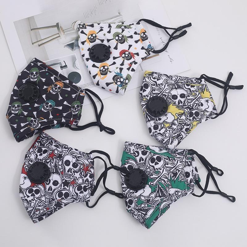 15 конструкций камуфляж ситец маска для лица с клапаном пыленепроницаемый противотуманным РМ2,5 фильтр дышащие многоразовые защитные маски DHB1186