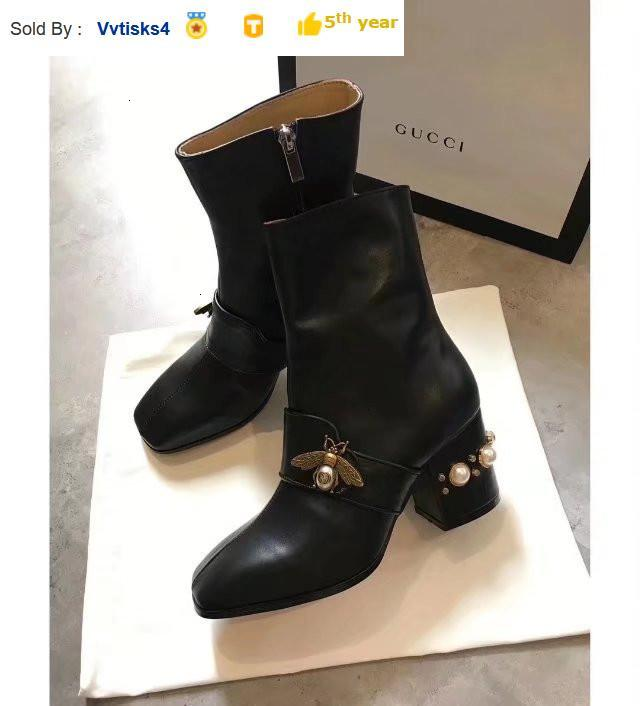 6325 bee thick leather buckle ankle boots Riding Rain Boot BOOTS BOOTIES SNEAKERS Dress Shoes