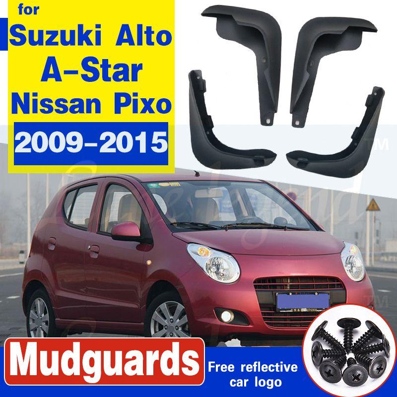 Auto-Schmutzfängern für Suzuki Alto / A-Star Nissan Pixo 2009-2015 Mudflaps Spritzschutz Schmutzfänger Schmutzfänger 2010 2011 2012 2013 2014