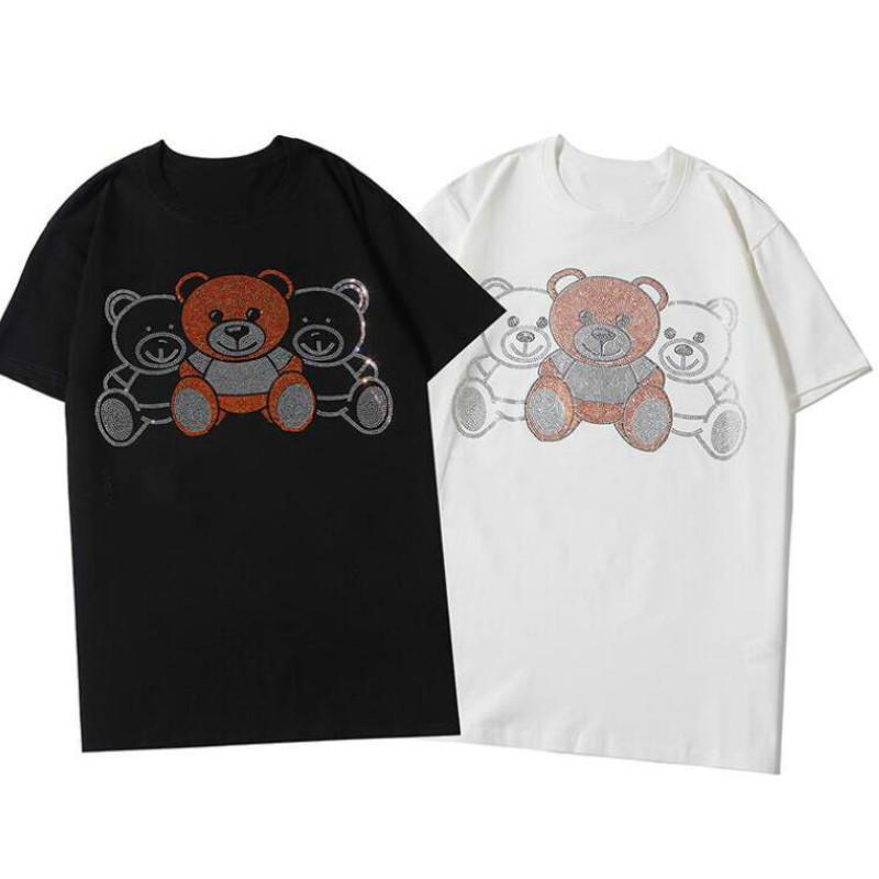 Mxxxxino 20SS été Hommes T-shirts avec des lettres de mode Italie T-shirts Casual Hommes Femmes Hauts Avec Ours S-2XL 2020 Pour en gros