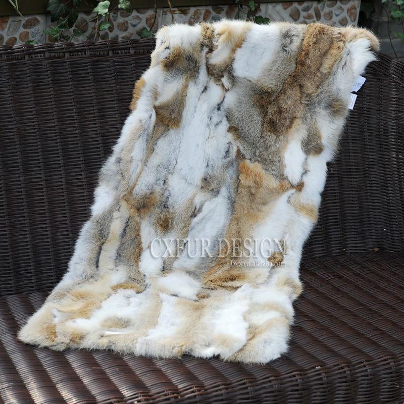 CX-D-18D baratos Patchwork real Fur Quarto Blanket Tapetes Tapetes Atacado Inverno real Fur Blanket