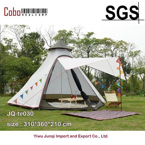 الخيام والملاجئ نمط الهرم تيبي خيمة يوني 10ft مزدوجة الباب ماء شبكة teepee التخييم الفاخرة المنغولية yurt الأسرة خفيفة الوزن