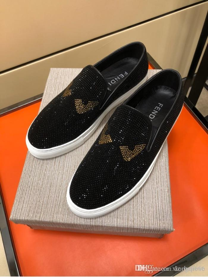 calçados esportivos casuais moda 2020 homens, confortável e versátil, de alta qualidade sapatos masculinos com diamondsAA