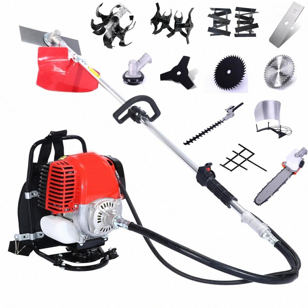 2019 Multi-function Grass cutter Earth Augers Grass Trimmer Hedge Trimmer Lawn Mower Log Splitters Agricultural harvester YGmM#