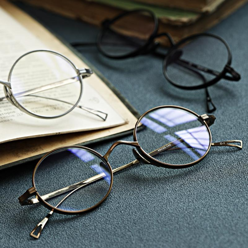 Ретро очки оптические рамки женщина читает очки ручной работы Очки для очков рецепт Meopia Мужские круглые титановые LBSKC