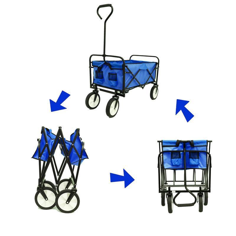 الأسهم الأمريكية، dhl الشحن الأزرق للطي عربة حديقة التسوق شاطئ عربة القابلة لطي لعبة الرياضة عربة حمراء المحمولة السفر التخزين عربة W22701512