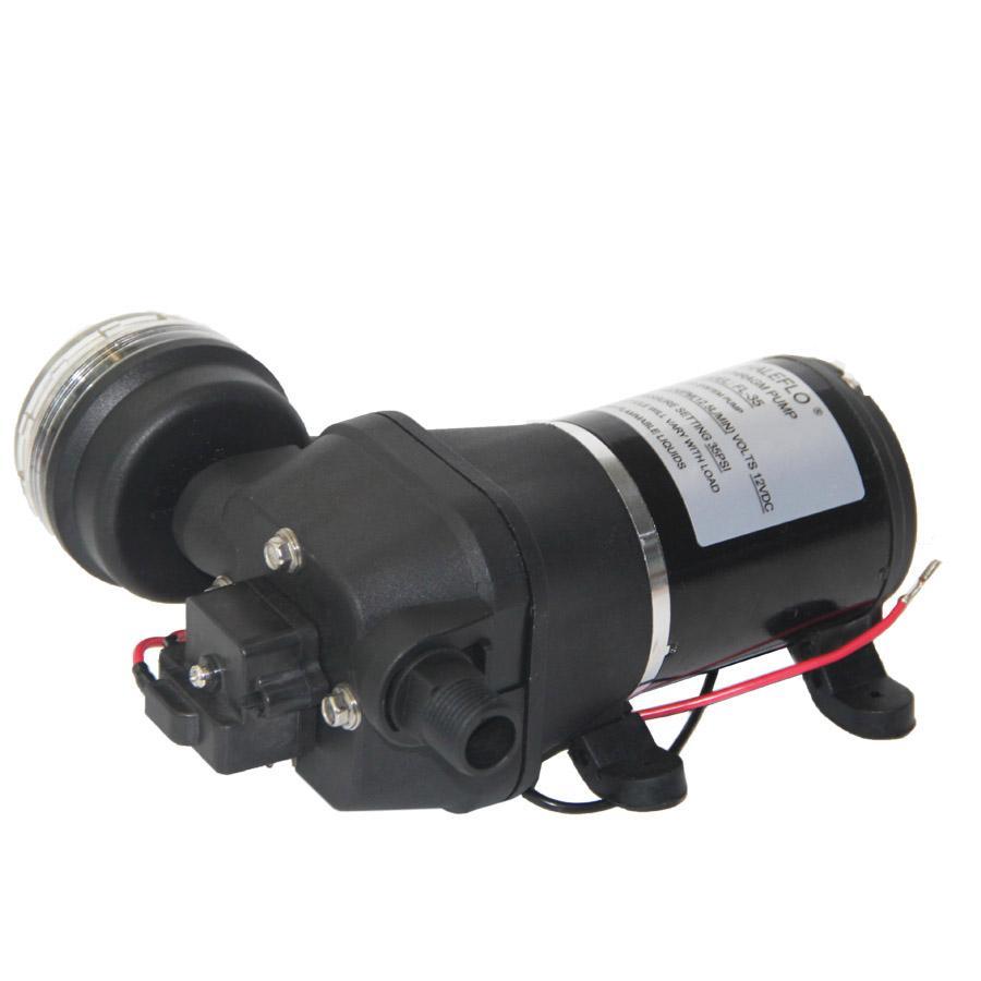 Whaleflo 12V / 24V trasferimento di acqua pompa di pressione marina 3.2GPM / propumps pompa acqua mare camper da casa all'aperto