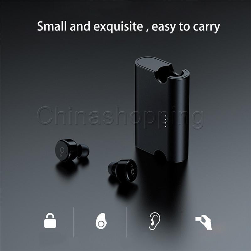 Cgjxs X2t Беспроводные Bluetooth наушники Супер Мини Истинные Наушники с зарядкой Box Беспроводные наушники для смартфоны с розничным пакетом