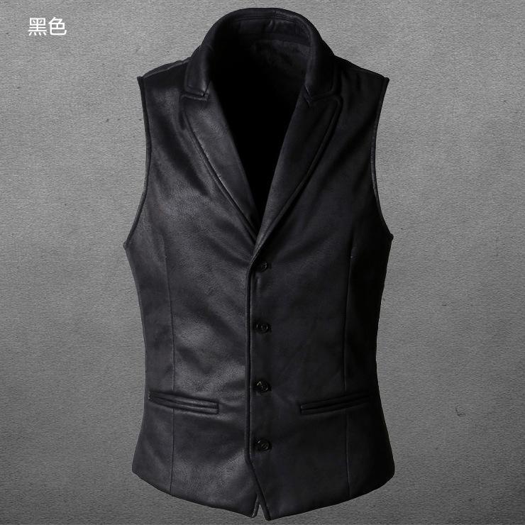 traje casual elegante revisa informal concede la chaqueta breasted-Individual Hombres de gamuza