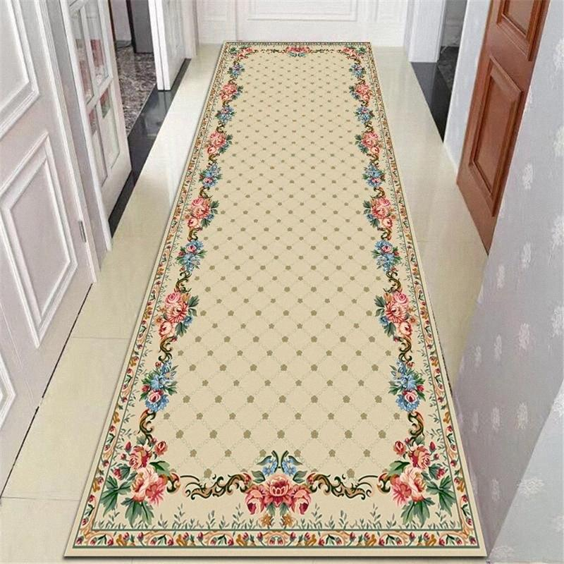 Nordic Style Stair Corridor Mat Flannel Non Slip Kitchen Decor Bedside Rugs Doormat Living Room Area Rug Floral Balcony Carpets Textur Ctl2#