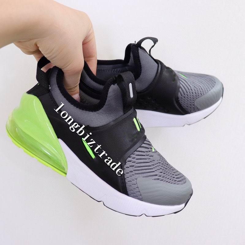 calidad superior nave rápida con caja EUR 24-35 Llegada de nuevo Cojín 270 para las muchachas de los zapatos de los niños zapatos deportivos Entrenadores Rosa Negro