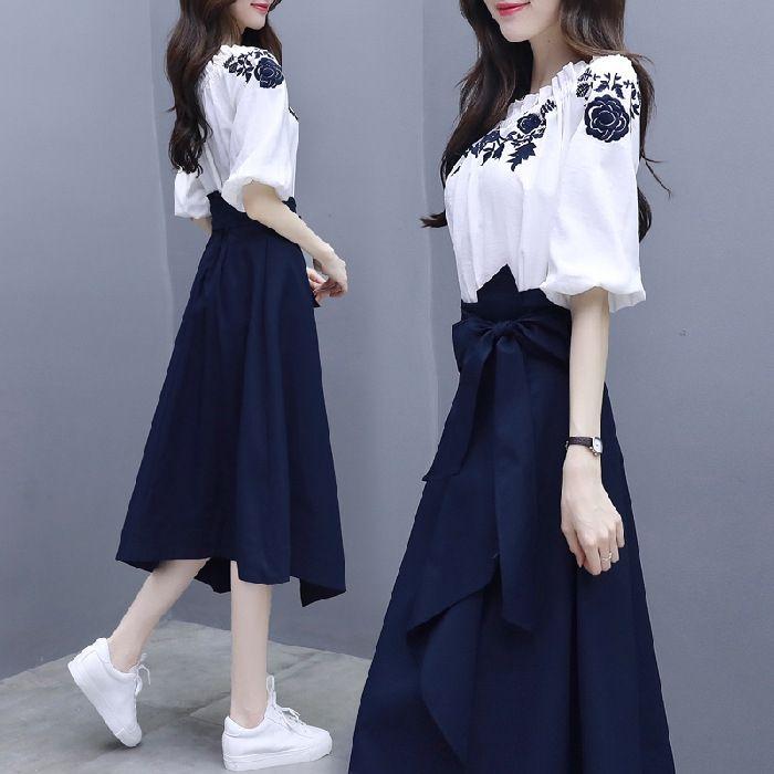 TkEyO Богиня стиль весна и осень 2020 платье нового элегантный Корейского стиля костюма женщины одно плеча шикарного платье из двух частей набора