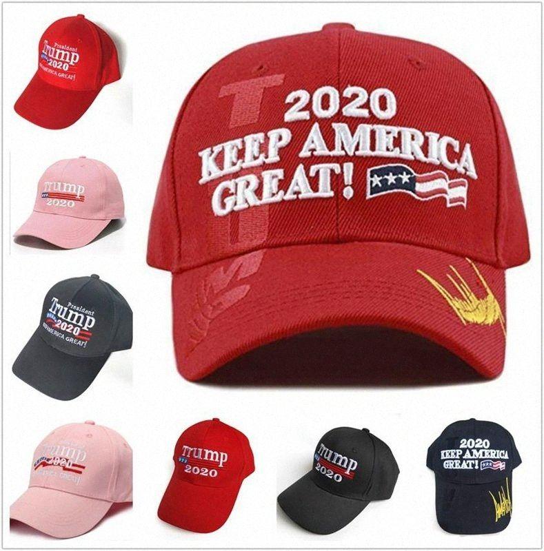 Trump Baseball Cap 2020 Präsident Make America Great Again Trump gestickte Outdoor-Hut-Hysteresen-Party-Hüte DDA69 GGVE #