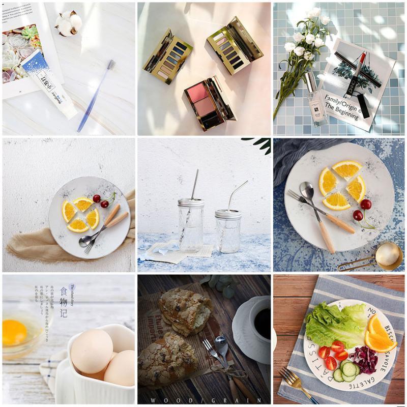 INS Contexte Conseil Simulation similibois Ciment Marbre Texture Photographie Prise de vue Backdrops Tabletop Papier Photo Kits studio