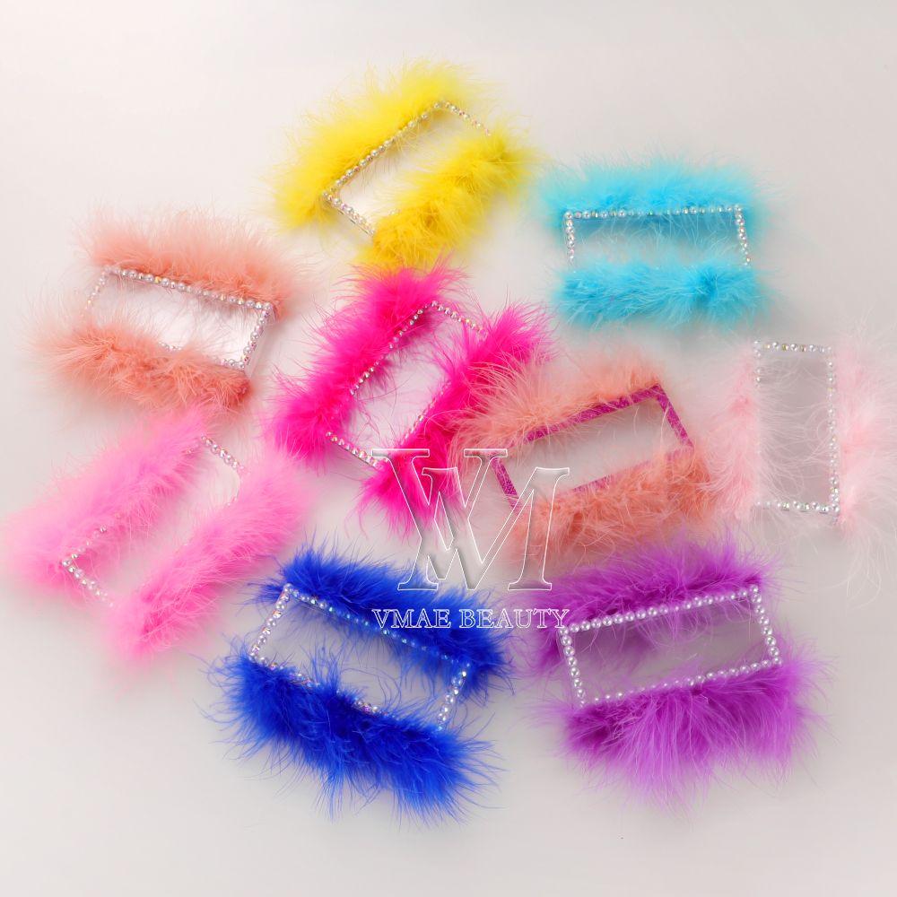Custom fluffy Eyelashes Packing Boxes Gift Box Lashes Package private label logo Makeup Cosmetic Case Mink False Eyelash 1Pcs