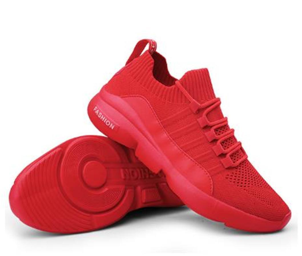 Esporte Homens Black Lace Up Shoes malha respirável sapatos de desporto masculino Ultraleve tênis de corrida para homens W
