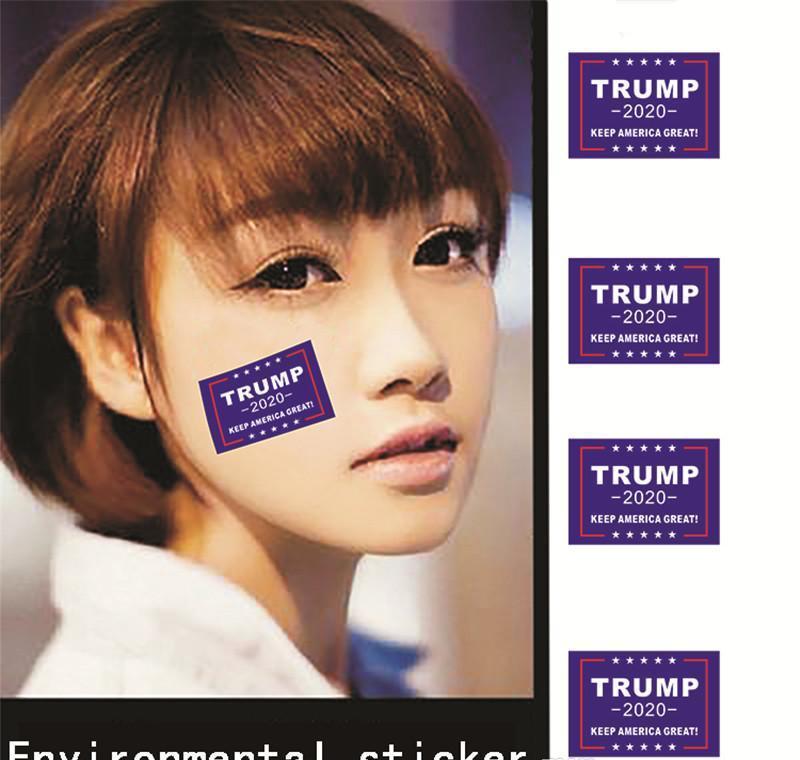 Bandera de la etiqueta engomada 2020 Elección Pegatinas Presidente Estados Unidos Cara 32 PC / sistema Donald Trump Ambiental garden2007 RwJIY
