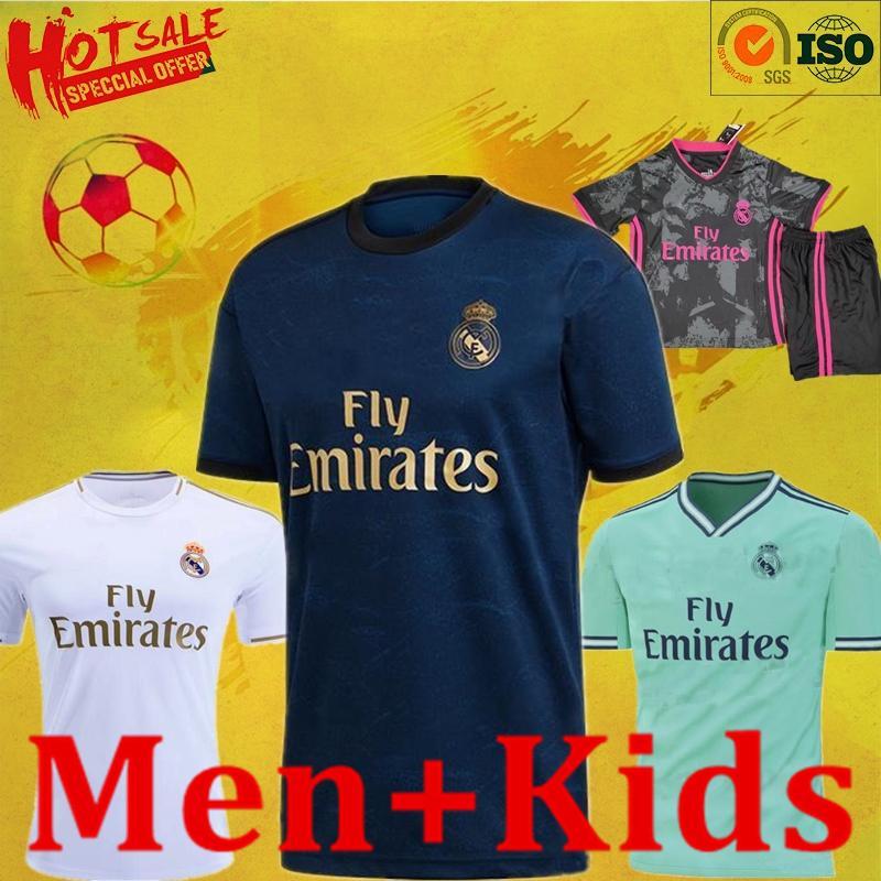 19 20 21 Real Madrid jerseys curta Casa Fora kit de futebol Terceira camisa de futebol PERIGO DE ZIDANE BENZEMA sets1 Camiseta De Futbol Homens Crianças