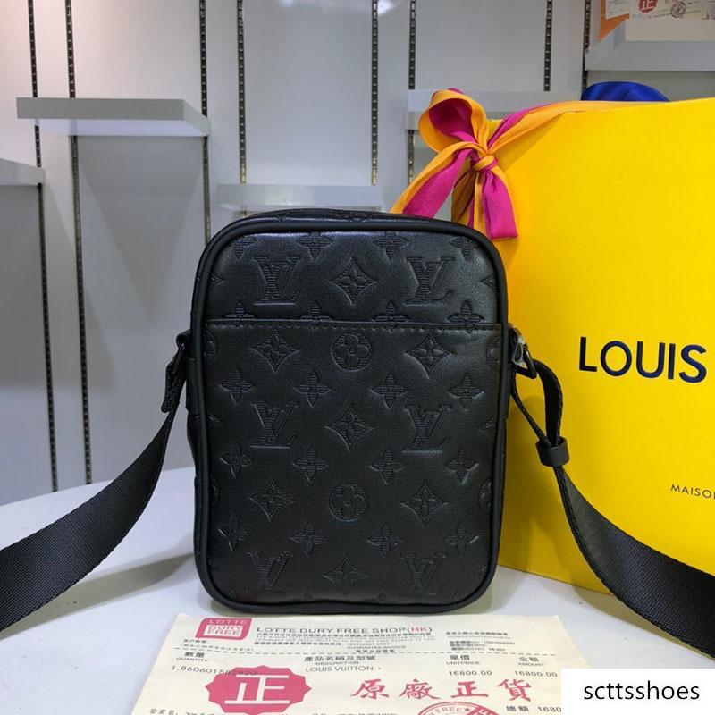 Borsa di lusso del progettista cartella di affari di spalla degli uomini di arrivo del messaggero del sacchetto di trasporto 43681