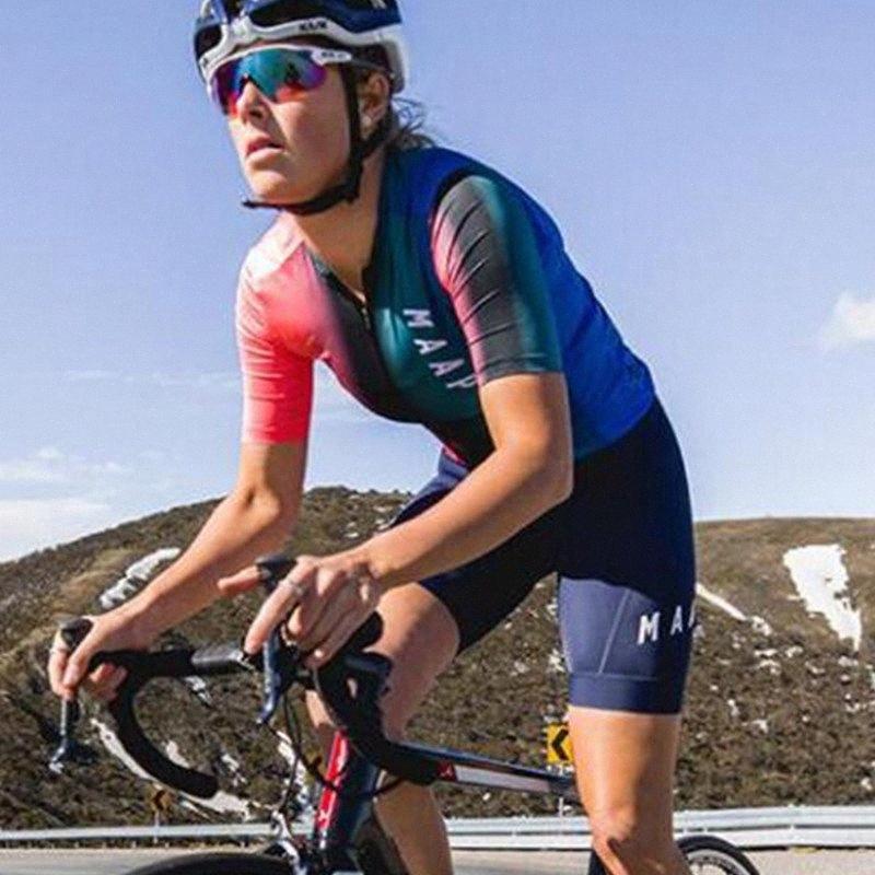 2020 2020 MAAP Mulheres roupa de manga curta bicicleta Set MTB Ciclismo Jerseys Maillot Ropa Ciclismo Corrida de Bicicleta Desporto overdress bicicleta Kit Fr Xsem #