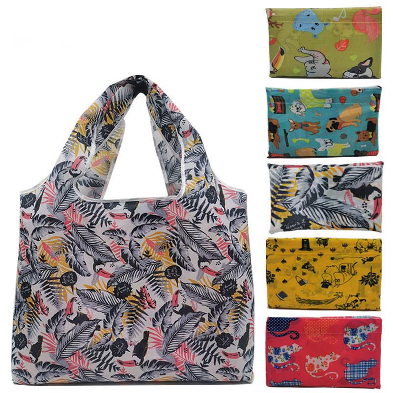 Reusable Shopping Bags Foldable Large Size Shopping Bags Totes Heavy Duty Washable Cloth Grocery Bags Eco-Friendly Ripstop