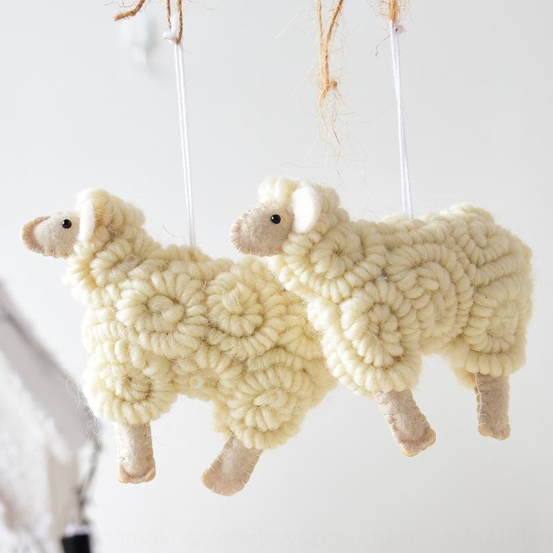 0Bzsk Nuoqi Ins Nordic стиль ручной работы шерстяной войлок орнамент овец орнамент Подвеска accessoriesaccessoriespendant рулон овец Рождество Рождество