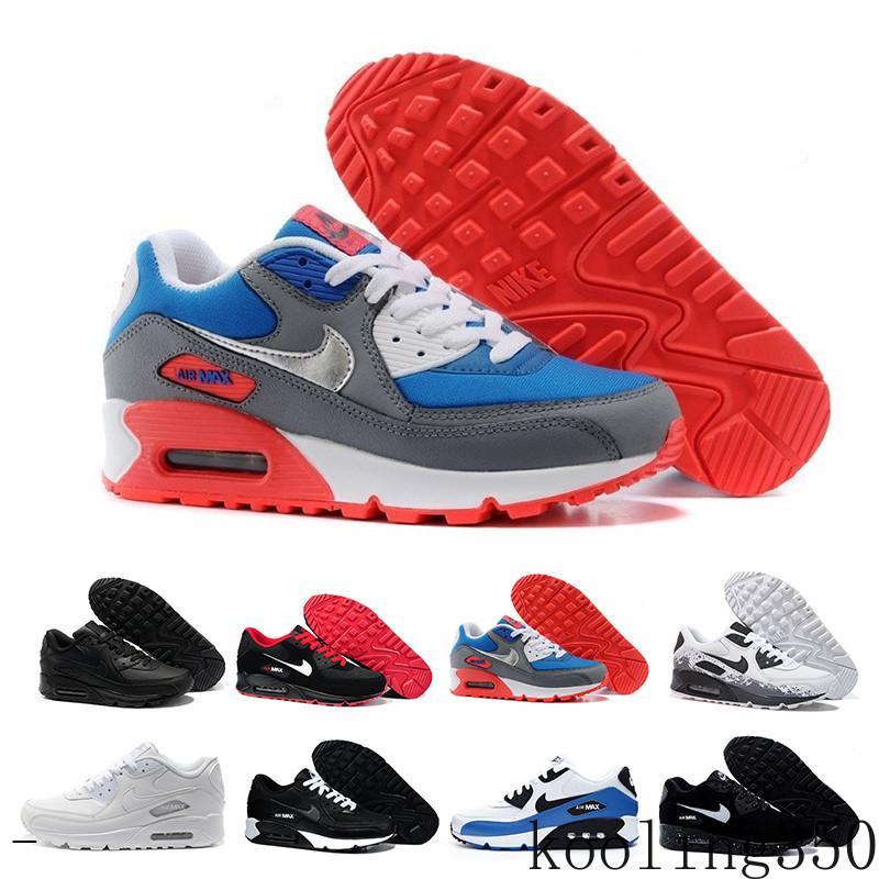 nike air max 90 90s airmax Atacado Moda Homens sapatilhas do clássico 90 Homens e mulheres Running Shoes instrutor Sports Cushion superfície respirável Sports EDI6B