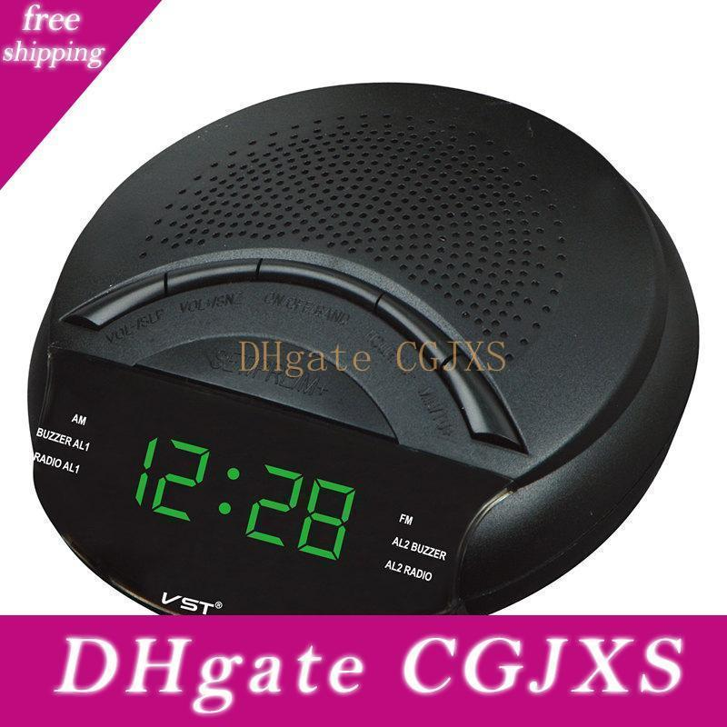 Mini Fm /Am Dual Band Radio Receiver With Clock Function Portable Led Display Sleep Snooze Multifunction Radio Receiver Speaker
