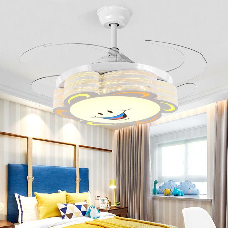 Kinderzimmer Schlafzimmer Decor LED Lichter für Raum Deckenventilator Leichter Lampe Essinging Deckenventilatoren mit Leuchten Fernbedienung