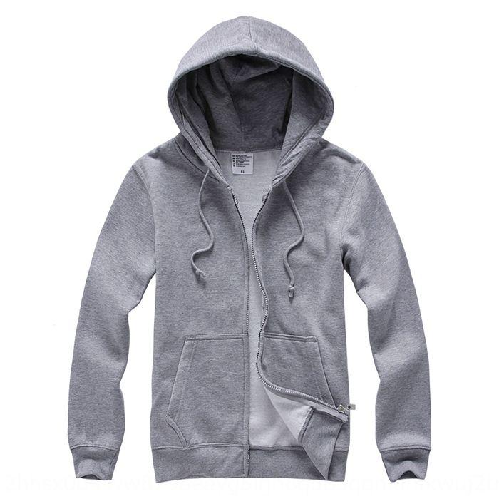 OC / AG 500g cremallera jersey de cremallera con capucha, más gruesa en blanco impresión de chaqueta de punto de terciopelo general