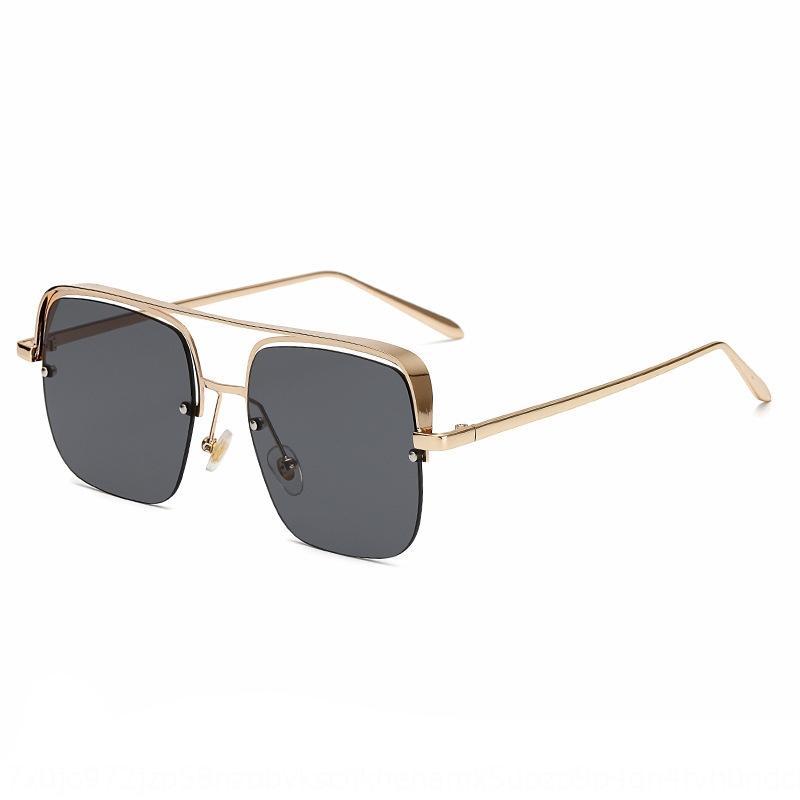 Jackson Yee Myopie lumière anti-bleu demi-cadre soleil unisexe lunettes simple cadre myopie lunettes 65TxB