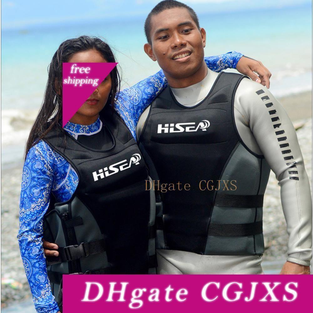 Chaqueta de neopreno Profesión salvavidas unisex vida flotabilidad Chaleco salvavidas Pesca Surf salvavidas surf natación flotante del paño