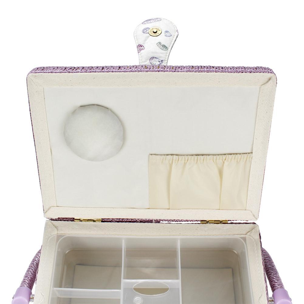 Boucle magnétique Voyage Imprimé Cottton Blend Sac de rangement de ménage couture Boîte