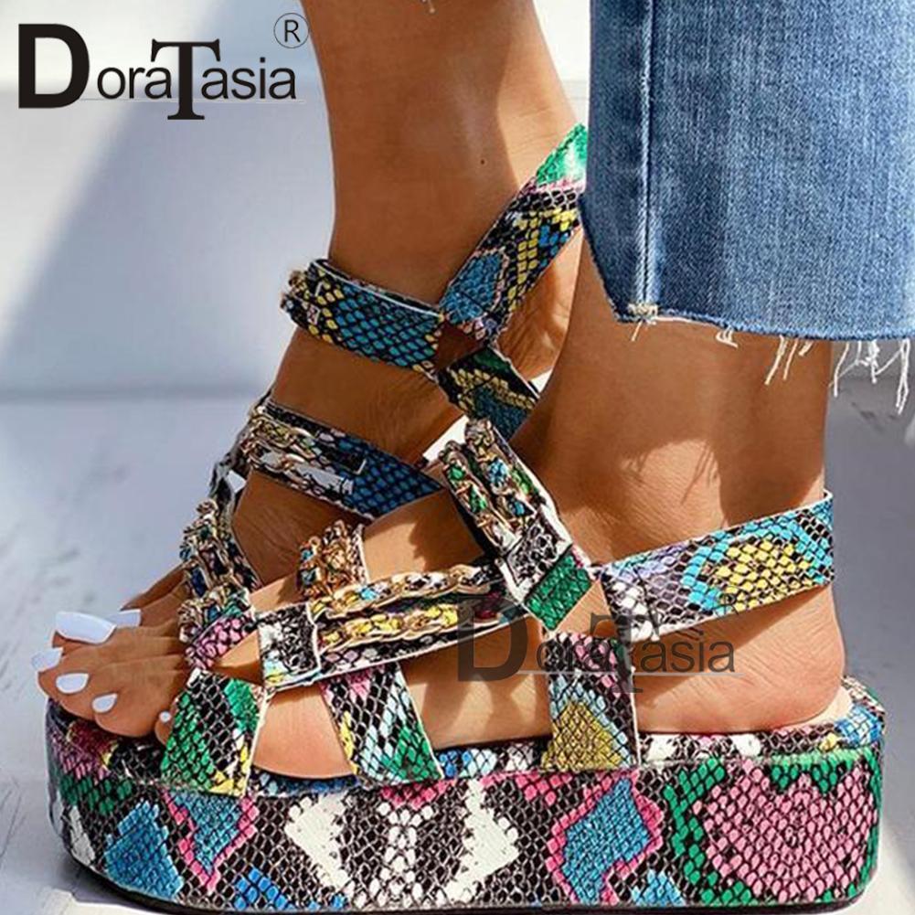 DORATASIA Большой размер 34-44 Brand New Luxury Ladies Красочные клинья гладиатор сандалии обувь женщина партии лето сандалии женщин 2020 LJ200828