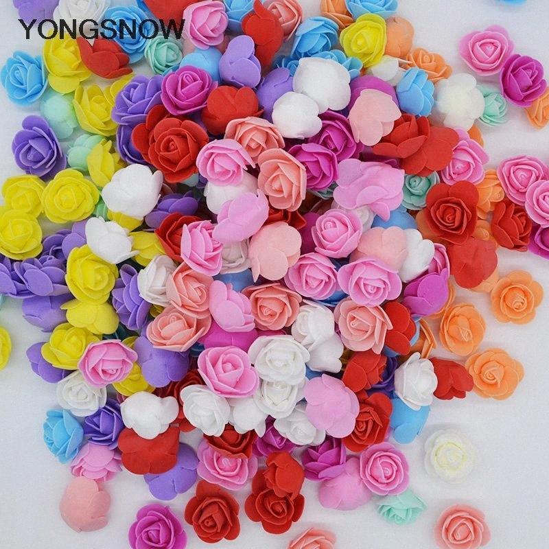50pc 3cm Mini Fleurs de rose Savon Ours en mousse de roses décorer flores artificielle rose tête de rose ours moules fête de mère fleur ook3 #