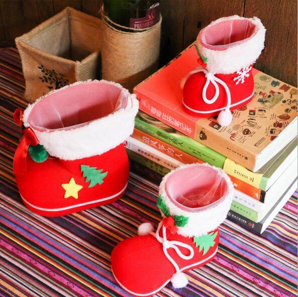 Gift Bag Christmas Tree Decoration Christmas Boots Candy Box for Kids Party Bags Boys Girls Santa Boot Shoes Stocking