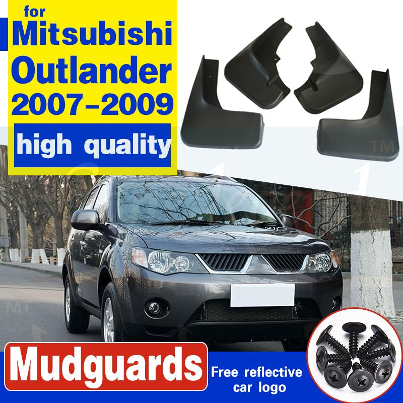 Vordere hintere geformte Kfz-Schlammklappen für Mitsubishi Outlander 2007 2009 2009 Mud-Blätter Spritzen Guards Schmutzklappe Mordguards Fender