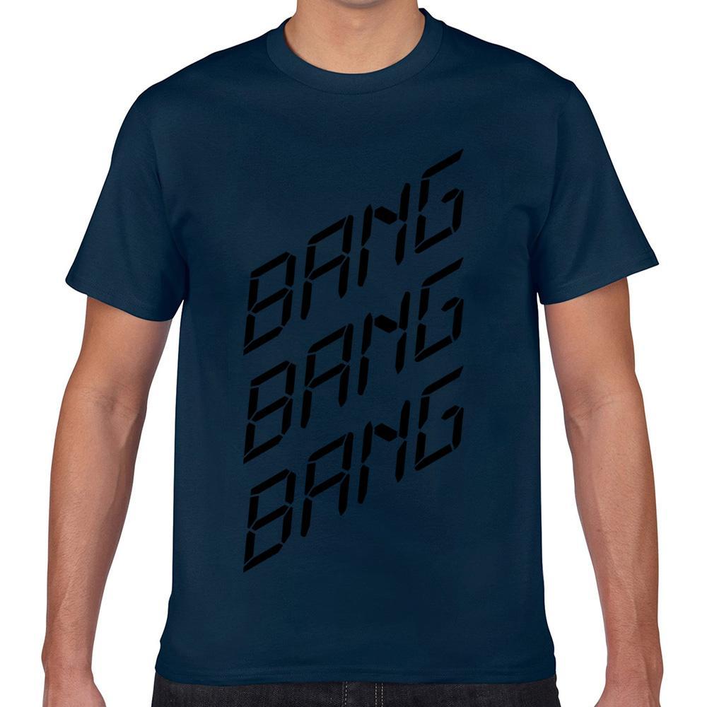 Топы Футболка Мужчины Bang Bang взрыва Смешные Harajuku Geek Пользовательские Мужской Tshirt Xxx