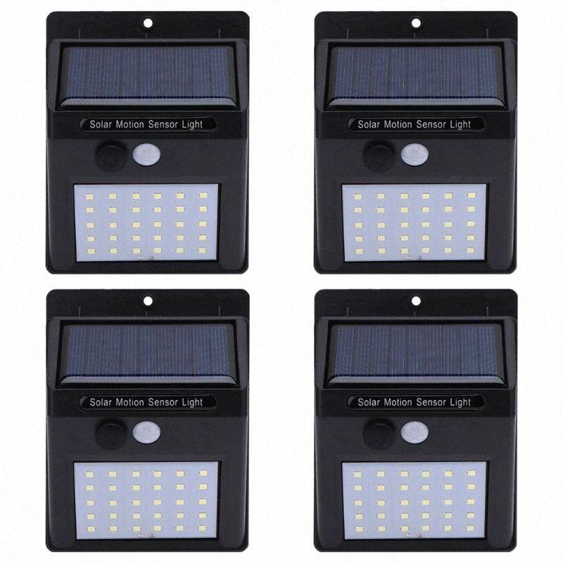 Solarlampen Wasserdichtes IP65 Leistung PIR Bewegungs-Sensor-LED-Garten-Licht-im Freien Pathway Sense Solar Außenwandleuchten VIOi #