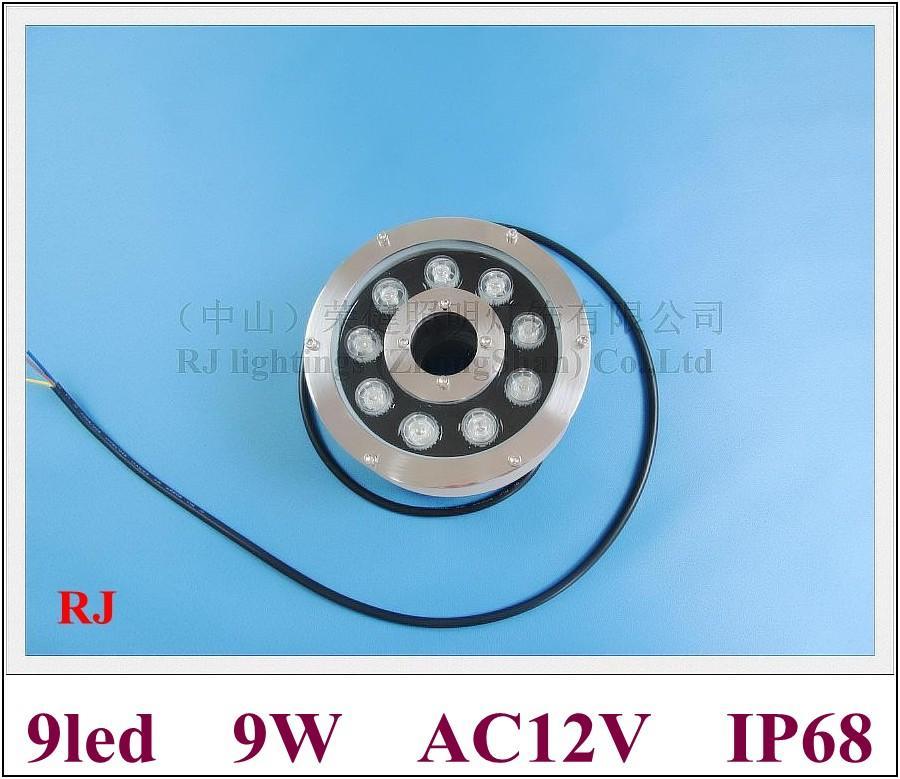 Elevata potenza 9W LED lampada subacquea LED Piscina Light Light Light Light Light 9W IP68 AC12V Ingresso