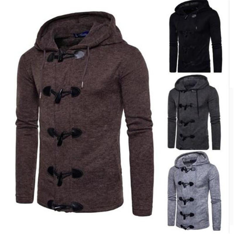 Hot Fashion Novelty Men's Autumn Winter Fashion Men Slim Designed Hooded Top Cardigan Coat Jacket winter coat Outerwear Anne