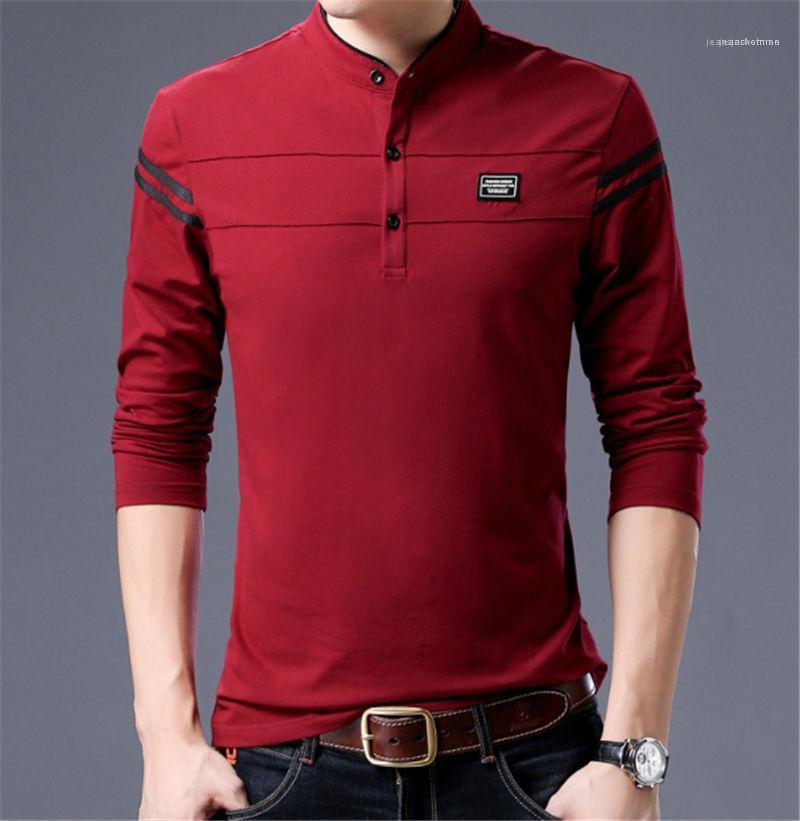 Tops Art und Weise beiläufiges lange Hülse Männlich Kleidung Frühling-dünne Mens Hemd grundiert O Ansatz Designer Homme