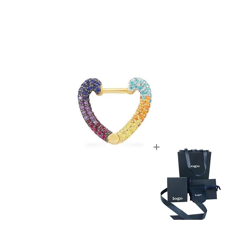 Kakany 2020 New Single Beautiful White Zircon Heart-shaped Small Earrings Simple Female Party Fashion Romantic Jewelry Gift