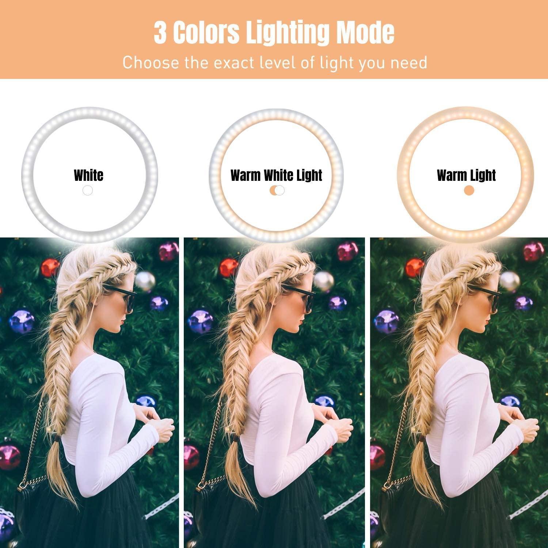 Profissional Selfie 10-Zoll-Ringlicht mit Stativ Fotografie Ring Beleuchtung Ringleuchte Bluetooth-Fernbedienung für Makeup TikTok Video