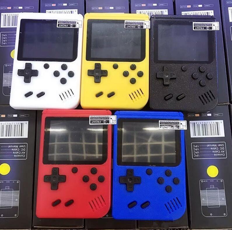 Bunte Mini-Handheld-Spielkonsole Tragbare Nostalgic Game Player 8 Bit 400 in 1 Fc Spiele LCD-Anzeige Hot Verkauf