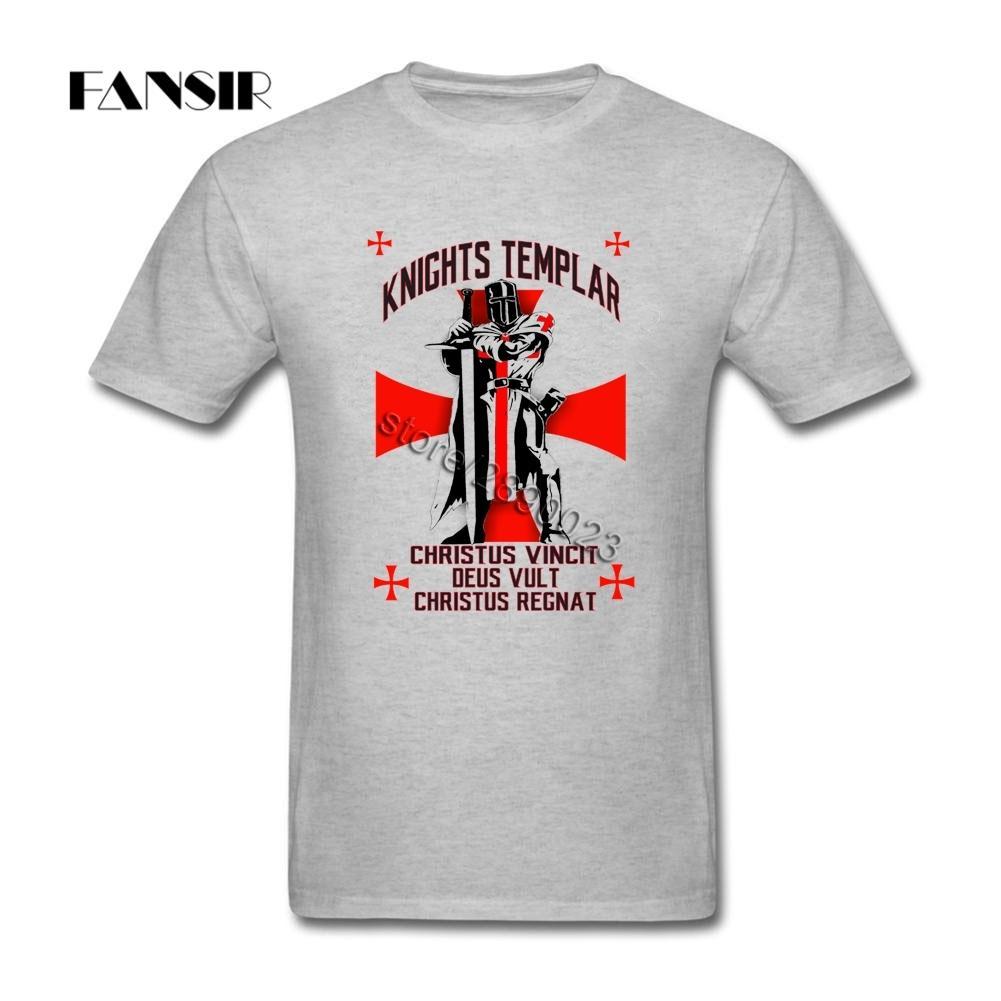Rock T-shirt maschio corta in cotone a maniche Cavalieri Templari Ragazzi Marca Abbigliamento Uomo T shirt 100%