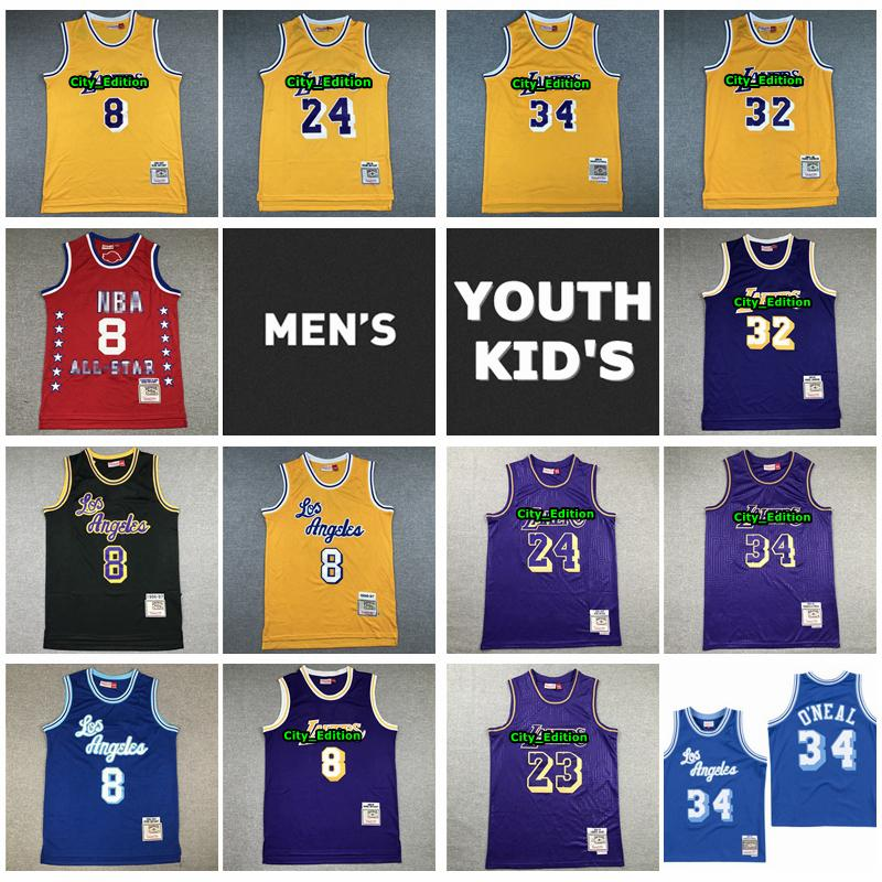 Mens Youth Kids Mitchell & Ness Lakers